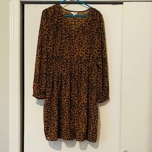 Cheetah print empire waist dress